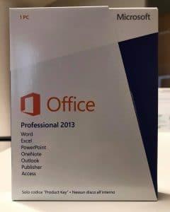 Microsoft Office 2013 Professional PKC COA